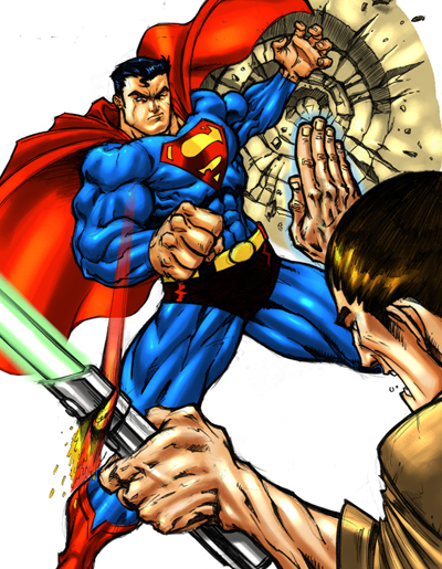 Lightsaber Versus Superman